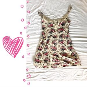 Size small floral tank- valentine's